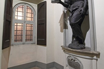 Diogene (Hominem quero) - scultura lignea